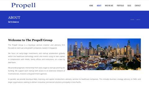 Screenshot of About Page propellgroup.biz - About | The Propell Group - captured Oct. 7, 2014