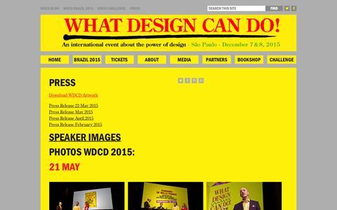 Screenshot of whatdesigncando.com - Press - What Design Can DoWhat Design Can Do - captured Oct. 6, 2015