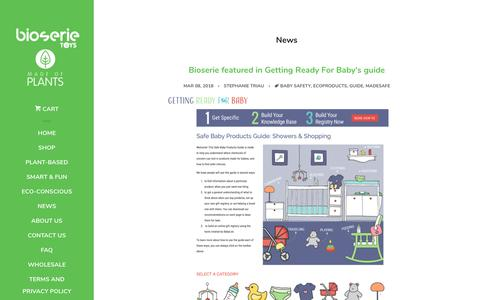Screenshot of Press Page bioserie.com - Bioserie • Latest News from Us & That Matter to Us - captured July 13, 2018