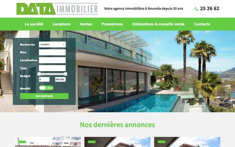 Screenshot of Home Page data-immobilier.nc - Data Immobilier - Data Immobilier - captured March 13, 2018