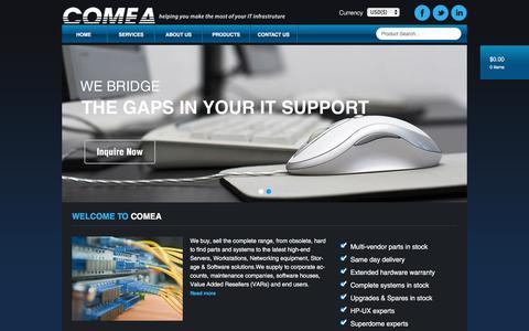 Screenshot of Home Page comea.com - Home - Comea - captured Jan. 30, 2016