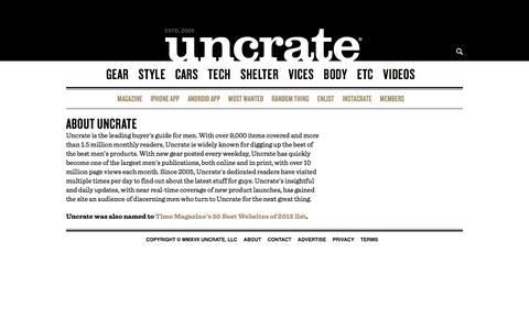 About | Uncrate
