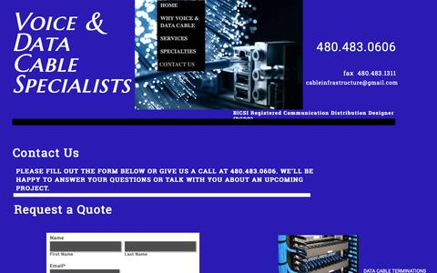 Screenshot of Contact Page vdcsinc.com - Cable Infrastructure Contracting, Commercial Voice & Data Installation Contractor, Scottsdale AZ - captured Nov. 7, 2018