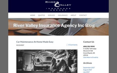 Screenshot of Blog rviagency.com - River Valley Insurance Agency Inc - Insurance Agency Blog Sample Page - captured Oct. 22, 2017