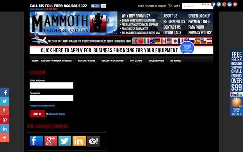 Screenshot of Login Page mammothtechnologies.com - Account – Mammoth Technologies - captured Oct. 4, 2014