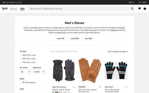 Gloves | Shop Men's Gloves | Lyst