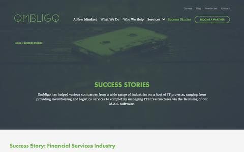 Screenshot of Case Studies Page ombligo.com - Success Stories | Ombligo - captured Oct. 20, 2017