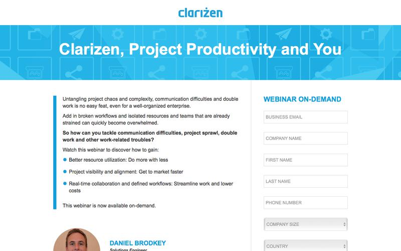 Clarizen, Project Productivity and You