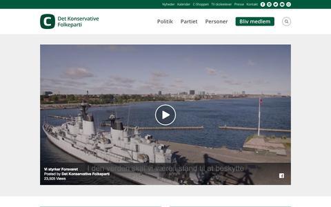 Screenshot of Home Page konservative.dk - Det Konservative Folkeparti - captured Oct. 12, 2017