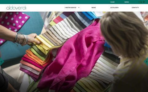 Screenshot of Home Page aldoverdi.com - Aldo Verdi - captured Feb. 5, 2016