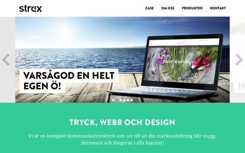 Screenshot of Home Page strax.ax - Tryck, webb och design | Strax Kommunikation - captured Sept. 11, 2015