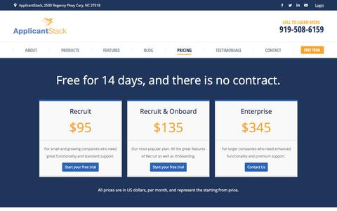 Applicant Tracking System Pricing | ApplicantStack