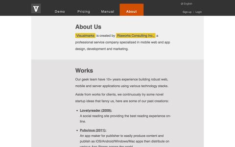 Screenshot of Contact Page visual-marks.com - Visualmarks - visual story telling done right ! - captured Sept. 12, 2014