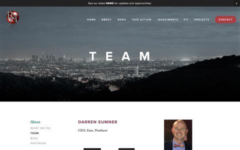 Screenshot of Team Page squarespace.com - Team — Reinvention Media - captured Oct. 26, 2014