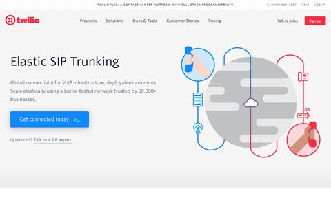 SIP Trunking Provider for Instant Provisioning - Twilio