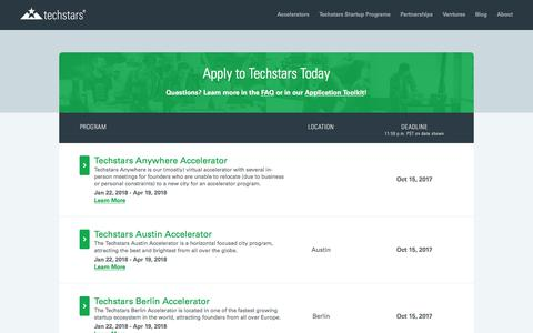 Apply to the Techstars Startup Accelerator