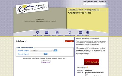 Screenshot of Jobs Page berthoudcolorado.com - Job Search - Berthoud Area Chamber of Commerce - Home - captured Oct. 3, 2014