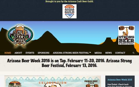 Screenshot of Home Page arizonabeerweek.com - Arizona Beer Week | February 12th - February 21st, 2015 - captured Sept. 11, 2015