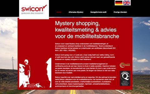 Screenshot of Home Page swicon.nl - Swicon Gedreven door kwaliteit! - captured Feb. 16, 2016