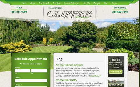 Screenshot of Blog clippertreeservice.com - Blog - Clipper Tree Service - captured Jan. 29, 2016