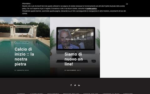Screenshot of Press Page marmiazzollini.com - News - Marmi Nicola Azzollini - captured Oct. 4, 2018
