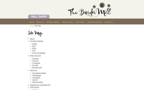Screenshot of Site Map Page thebordermill.co.uk - Site Map | The Border Mill - captured Oct. 9, 2014