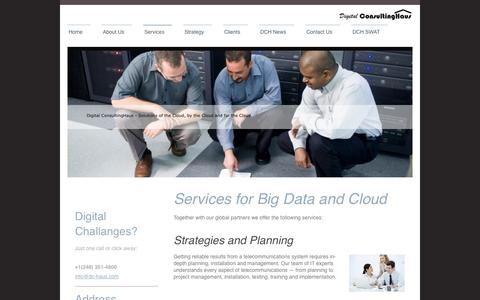 Screenshot of Services Page digitalconsultinghaus.com - Digital ConsultingHaus - Services - captured Oct. 5, 2014