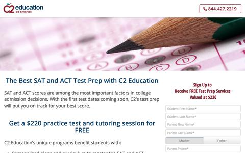 Screenshot of c2educate.com - The Best SAT and ACT Test Prep - C2 Education - captured Aug. 11, 2017