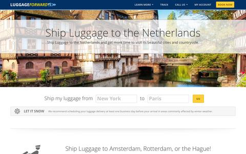 Ship Luggage to the Netherlands | Ship to the Netherlands