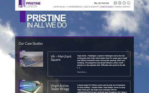 Screenshot of Case Studies Page pristinelondon.co.uk - Case Studies - Pristine London - captured Dec. 12, 2015
