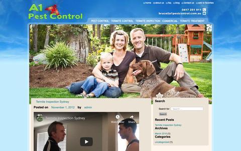 Screenshot of Blog a1pestcontrol.com.au - blog - a1pestcontrol - captured Nov. 6, 2018