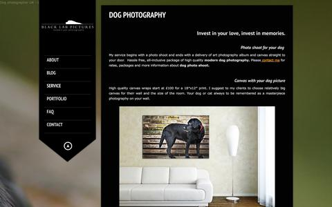 Screenshot of Pricing Page blacklabpictures.co.uk - Dog photoshoots and workshops | London dog photographer - captured Sept. 30, 2014