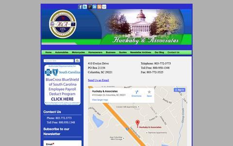 Screenshot of Contact Page huckabyandassociates.com - Contact Us - Columbia South Carolina Insurance Agency | - captured Dec. 14, 2015