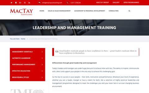Screenshot of Team Page mactayconsulting.com - Leadership and Management Training - MacTay Consulting - captured May 27, 2017