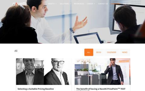 Screenshot of Press Page navetti.com - Newsroom | Navetti - captured Oct. 20, 2018