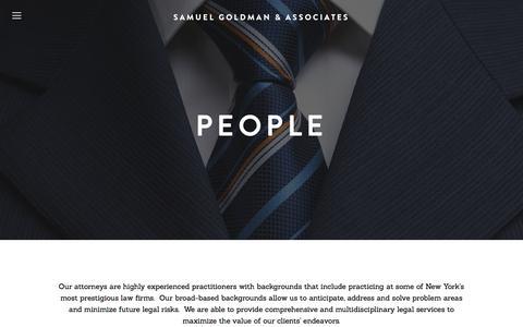 Screenshot of Team Page sgalaw.com - People — Samuel Goldman & Associates - captured Nov. 19, 2016