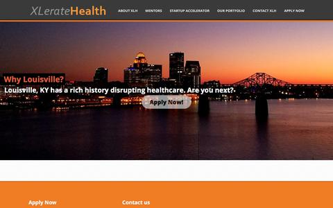 Screenshot of Home Page xleratehealth.com - XLerateHealth – Making the companies that are remaking healthcare - captured July 25, 2018
