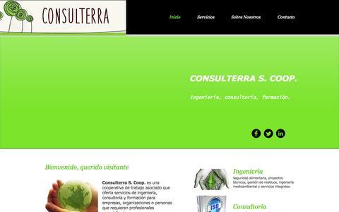 Screenshot of Home Page consulterra.net - consulterra-scg - captured Oct. 3, 2014
