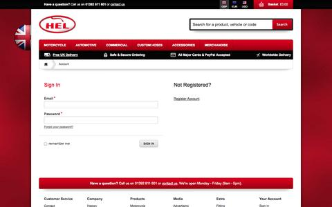 Screenshot of Login Page helperformance.com - Account - captured Sept. 27, 2014