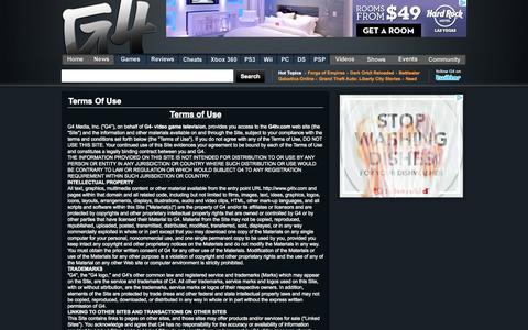 Screenshot of Terms Page g4tv.com - Video Games, Game Reviews & News - G4tv.com - captured Sept. 25, 2014