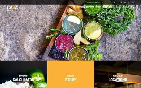 Screenshot of Home Page cavagrill.com - Cava Grill - captured Jan. 14, 2015