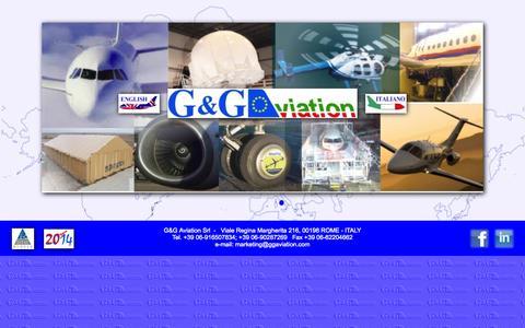 Screenshot of Home Page ggaviation.com - G&G Aviation - captured July 16, 2015