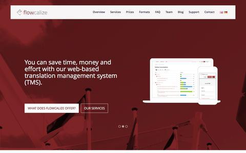 Screenshot of Home Page flowcalize.com - Flowcalize | Professional Translation & Localisation - captured Feb. 10, 2016