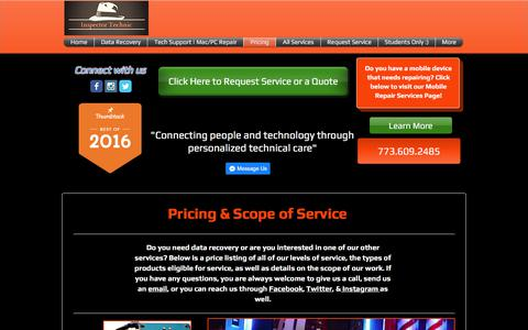 Screenshot of Pricing Page inspectortechnic.com - Pricing | Quotes | Inspector Technic - captured Oct. 15, 2017