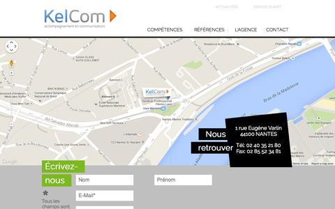 Screenshot of Contact Page kelcom.fr - Venir nous voir  - Agence de communication Nantes -  Site Internet Nantes - KelCom - captured Oct. 6, 2014