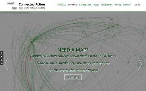 Screenshot of Home Page connectedaction.net - Connected Action – Your link to network insights - captured Sept. 29, 2018