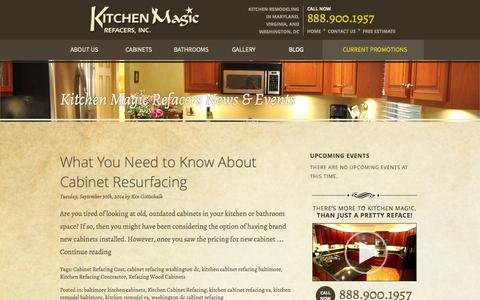 Screenshot of Blog kitchenmagic.net - Cabinet Refacing Blog by Kitchen Magic Refacers Inc in Gambrills MD - captured Oct. 6, 2014