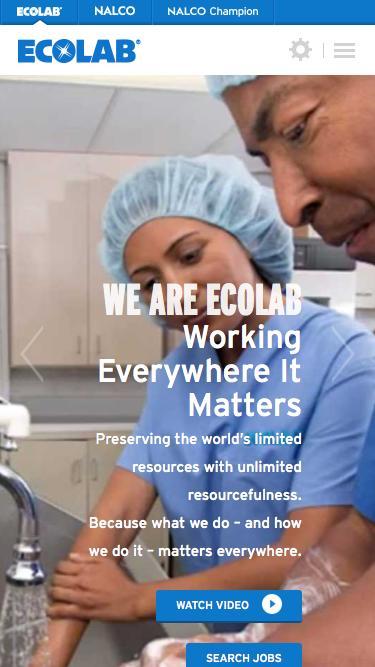 Screenshot of Jobs Page  ecolab.com - Careers   Ecolab