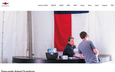 Screenshot of FAQ Page mooney.com - Mooney International - captured Sept. 26, 2016