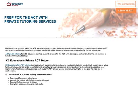 Screenshot of c2educate.com - Prep for the ACT with Private Tutoring Services - captured June 6, 2017